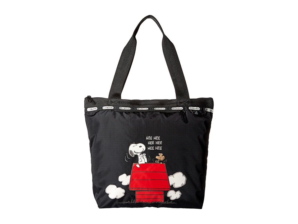 LeSportsac Small Deluxe Hailey Tote Snoopy Surprise Small Tote Handbags