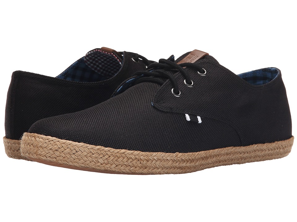 Ben Sherman - Prill Lace-Up (Black Linen) Men
