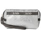 LeSportsac Small 2 Zip Wristlet (Silver Snake)