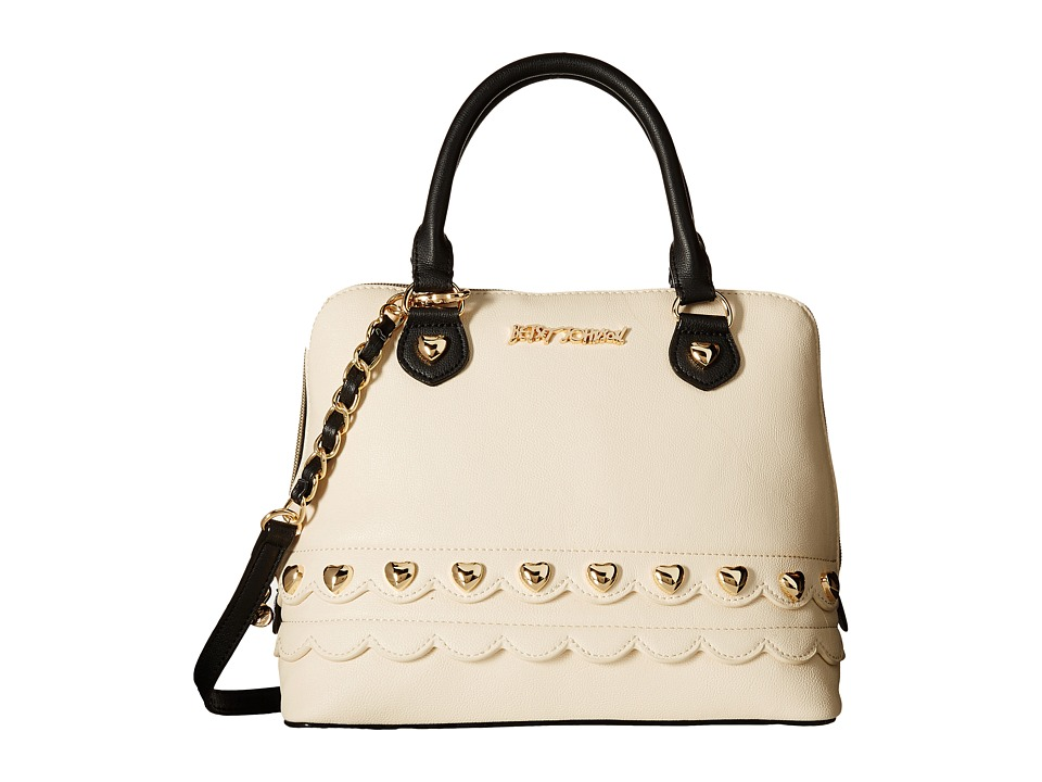 Betsey Johnson - Wavy Days Dome Satchel (Cream) Satchel Handbags