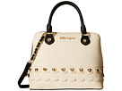 Betsey Johnson Wavy Days Dome Satchel (Cream)