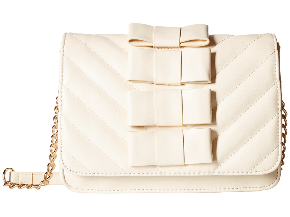 Betsey Johnson - Tie Affair Crossbody (Cream) Cross Body Handbags