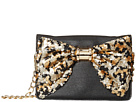 Betsey Johnson Oh Bow Wallet On A String (Black/Leopard)