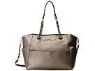 Betsey Johnson Hidden Treasure Satchel (Pewter)