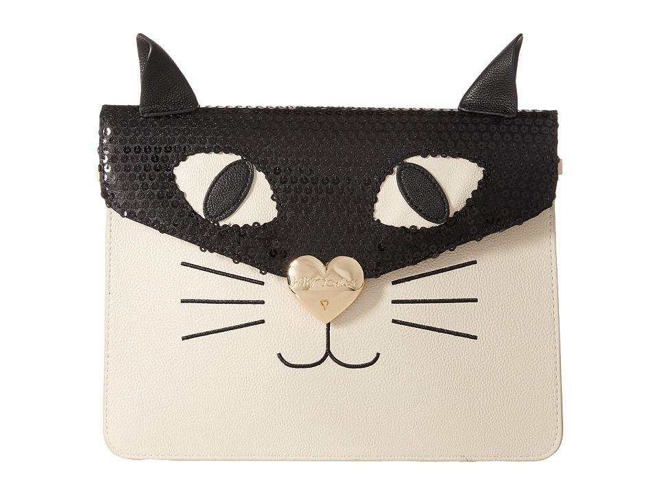 Betsey Johnson - Cray Cray Creature Clutch (Cream/Black) Cross Body Handbags