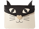 Betsey Johnson Cray Cray Creature Clutch (Cream/Black)