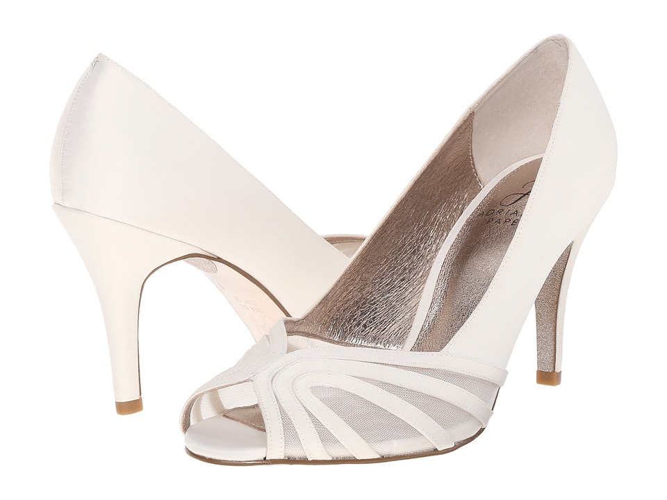 Adrianna Papell Fergie Ivory Satin/Mesh Womens Shoes