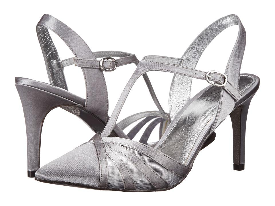 Adrianna Papell Heidi Pewter Sheena Satin Womens Shoes