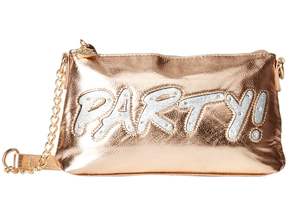 Betsey Johnson - Kitch Light Up Crossbody Party (Rose Gold) Cross Body Handbags