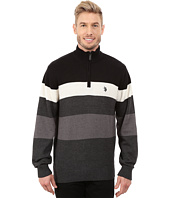 U.S. POLO ASSN. - 1/4 Zip Stripe Sweater