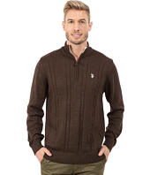 U.S. POLO ASSN. - 1/4 Zip Cable Sweater