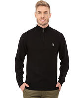 U.S. POLO ASSN. - 1/4 Zip Solid Sweater