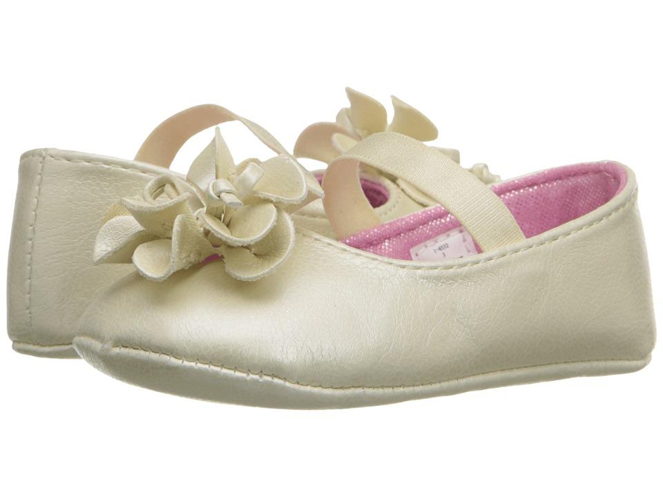 Baby Deer Metallic Skimmer Infant Ivory Girls Shoes