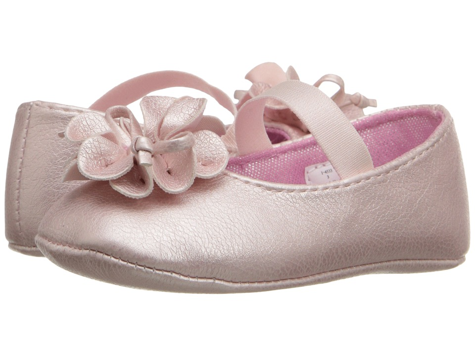 Baby Deer Metallic Skimmer Infant Pink Girls Shoes