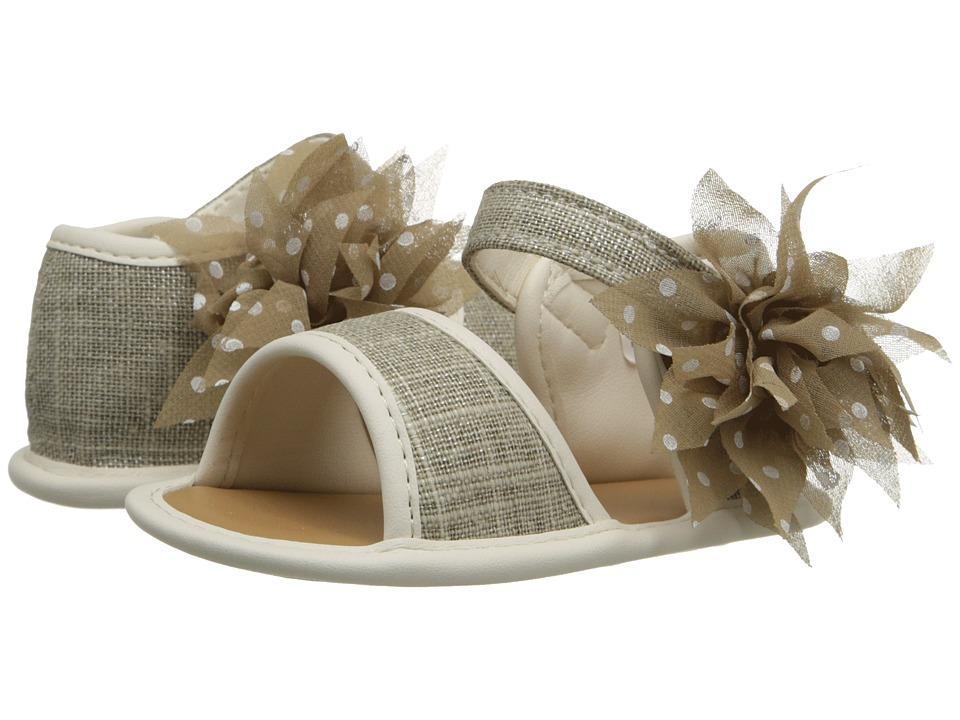 Baby Deer Linen Sandal Infant Tan Girls Shoes