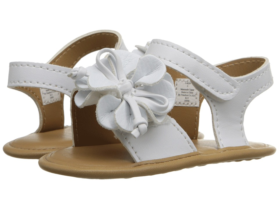 Baby Deer Double Strap Sandal Infant White Girls Shoes