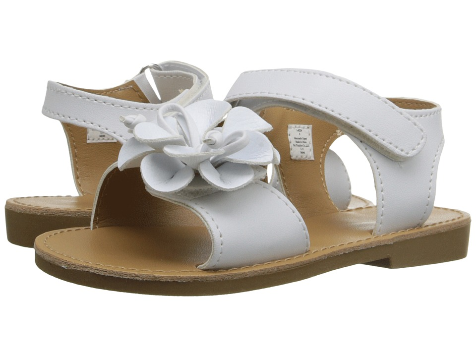 Baby Deer Double Strap Sandal Infant/Toddler White Girls Shoes