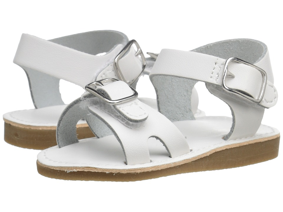 Baby Deer Double Strap Sandal with Buckles Infant/Toddler White Kids Shoes