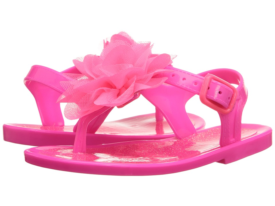 Baby Deer Jelly Thong Sandal Infant/Toddler Fuchsia Girls Shoes
