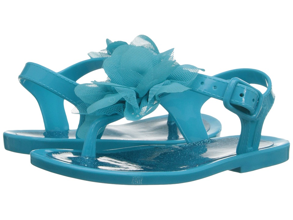 Baby Deer Jelly Thong Sandal Infant/Toddler Turquoise Girls Shoes