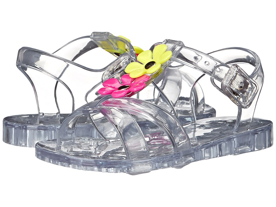 Baby Deer T Strap Jelly with Flowers Infant/Toddler Clear Girls Shoes