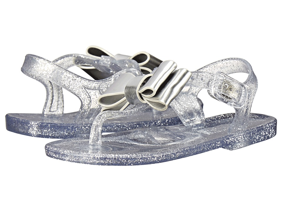 Baby Deer Jelly Bow Thong Sandal Infant/Toddler Clear Girls Shoes
