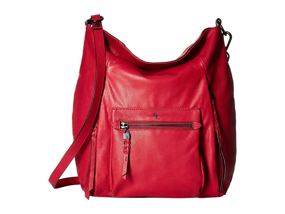 Elliott Lucca - Vivien Fold-Over Hobo (Cranberry) Cross Body Handbags