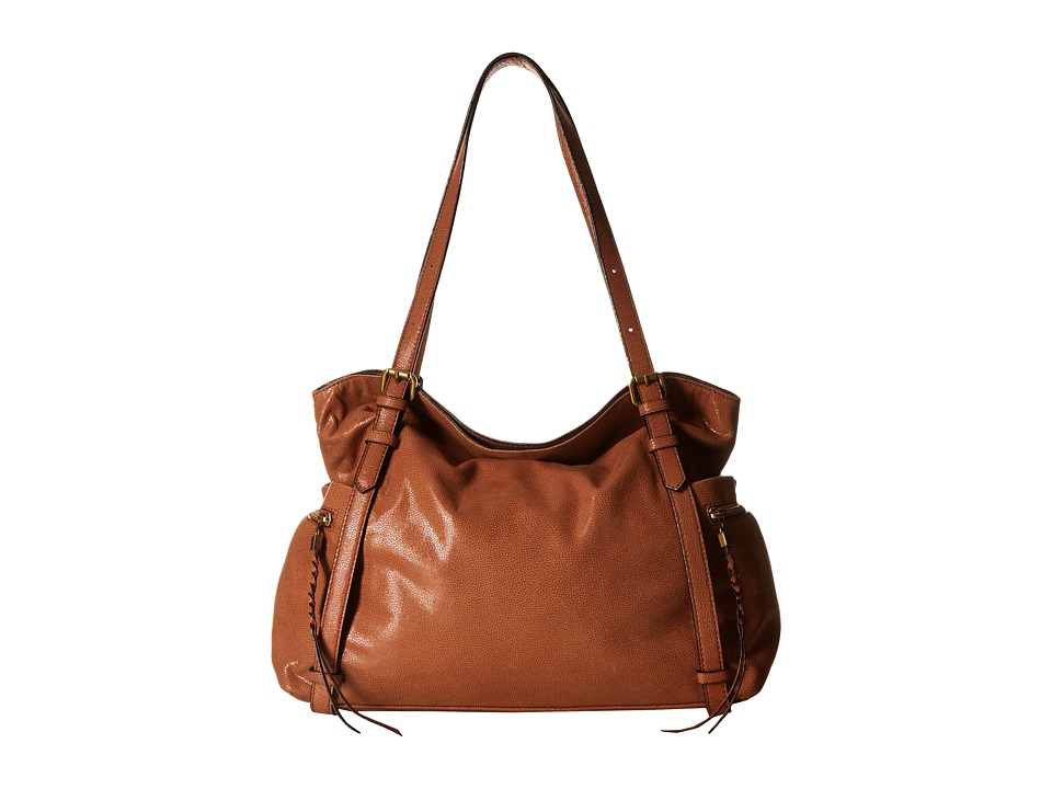 Elliott Lucca - Cammi Fold-Over Tote (Cognac) Shoulder Handbags