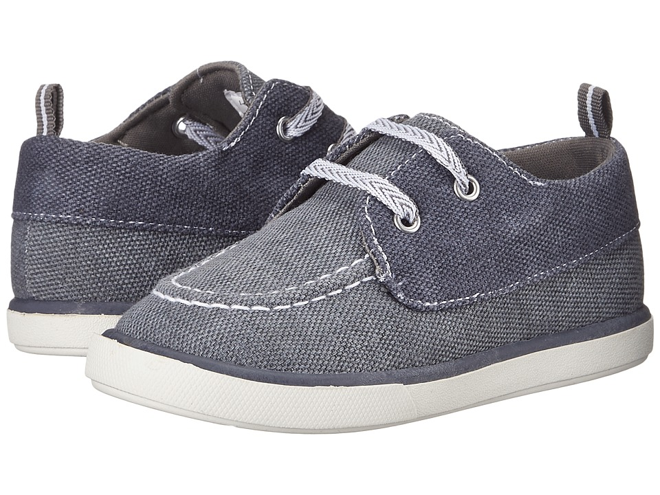 Baby Deer Canvas Deck Shoe Infant/Toddler Gray/Navy Boys Shoes
