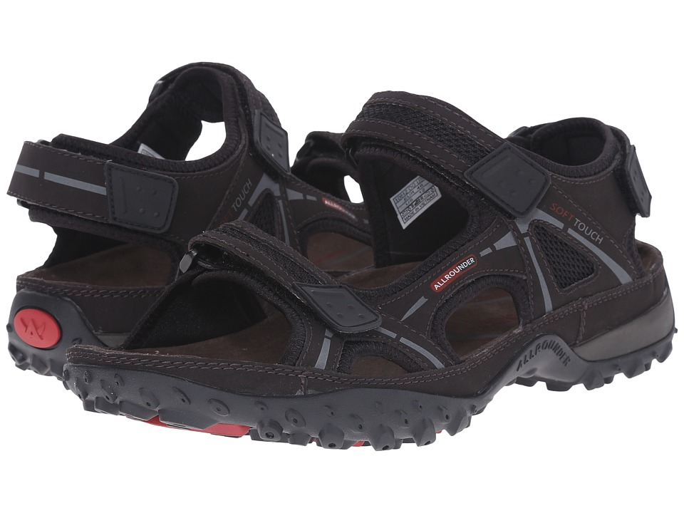 Allrounder by Mephisto - Regent (Espresso Tech Nubuck) Men's Sandals