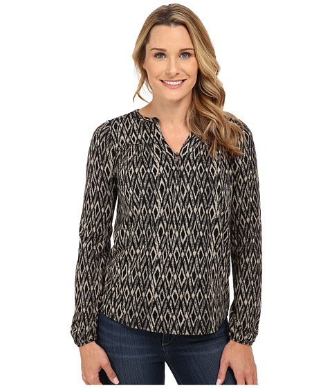 Lucky Brand Ikat Peasant Top