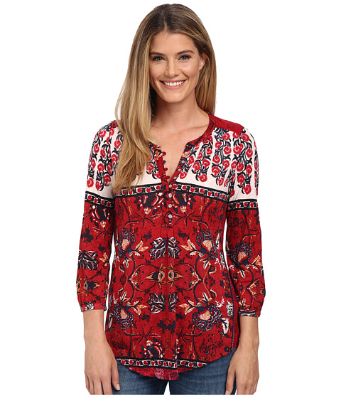 Lucky Brand Floral Scarf Top