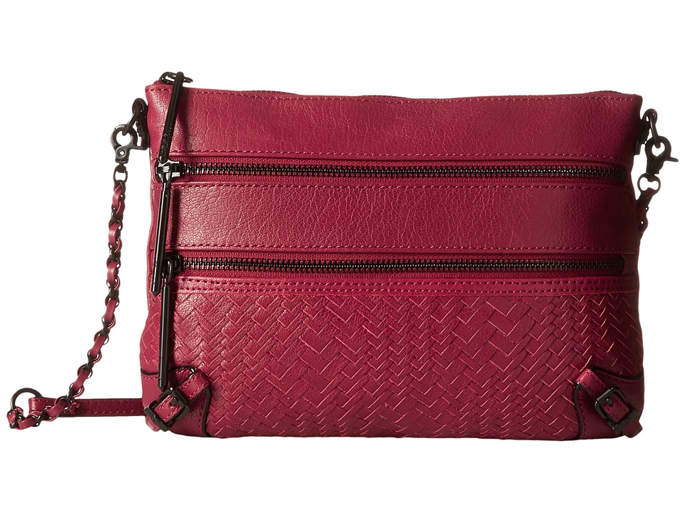 Elliott Lucca Bali 89 3 Zip Clutch Cranberry Devi Clutch Handbags