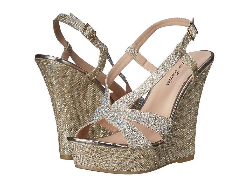 Lauren Lorraine Nika Nude Womens Wedge Shoes