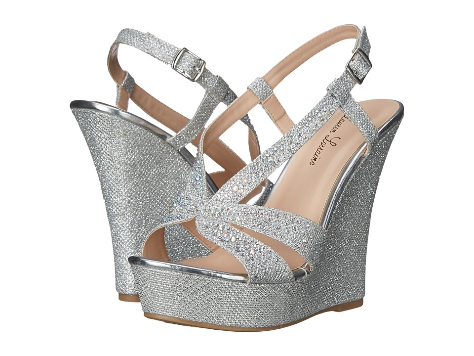 Lauren Lorraine Nika Silver Womens Wedge Shoes