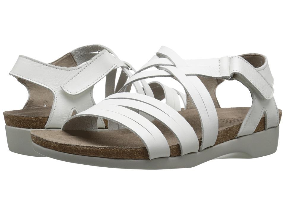 Munro American Kaya White Leather Womens Sandals