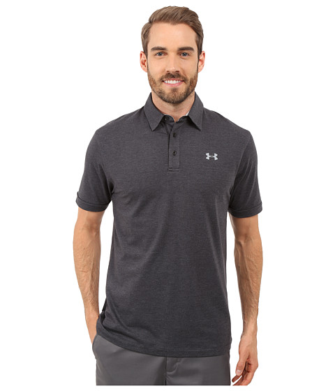 Under Armour Golf Charged Cotton Scramble Polo - Black