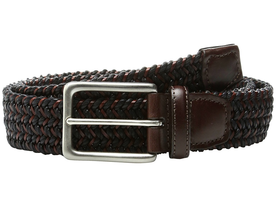 Torino Leather Co. - Italian Woven Cotton and Leather Elastic (Black) Men