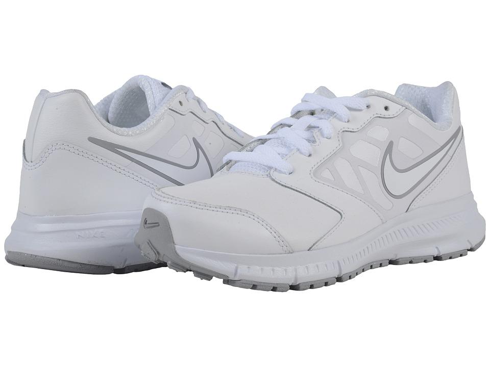 Nike Kids Downshifter 6 LTR Little Kid/Big Kid White/Wolf Grey/White Boys Shoes