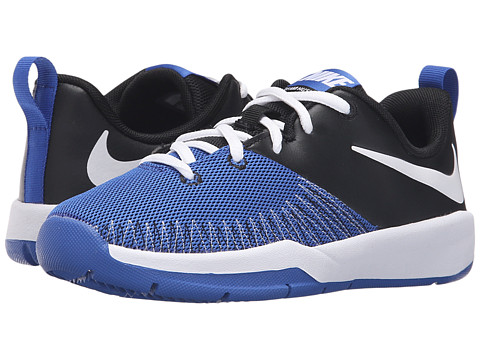 Nike Kids Team Hustle D 7 Low (Big Kid) - Black/Game Royal/White