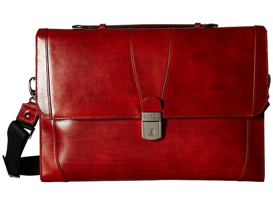 Bosca - Flap Envelope Brief (Cognac) Briefcase Bags