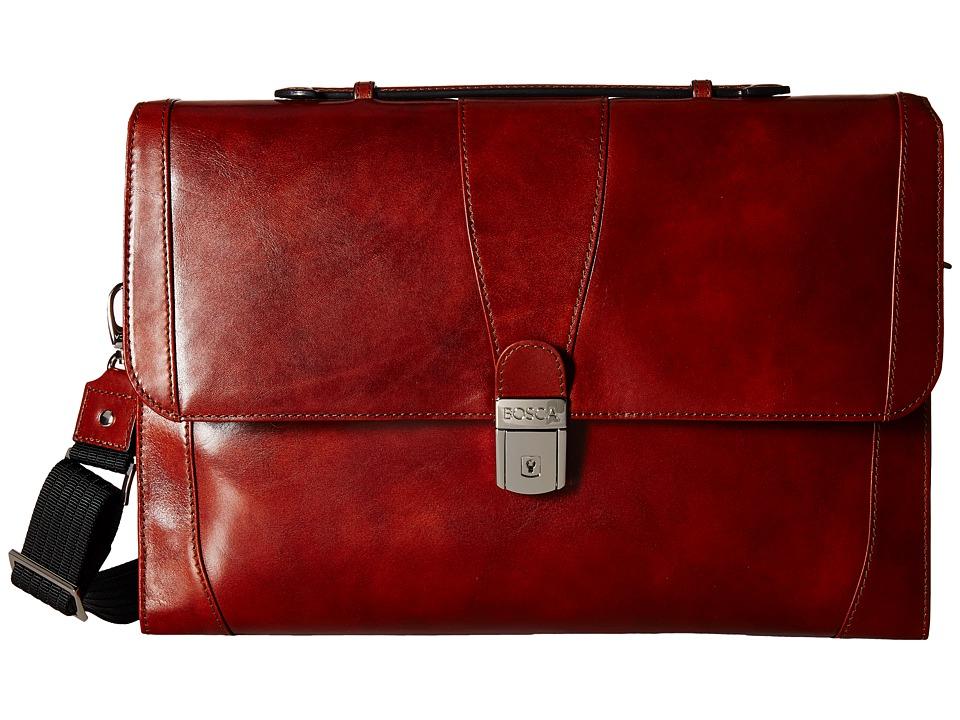 Bosca - Flap Envelope Brief (Amber) Briefcase Bags