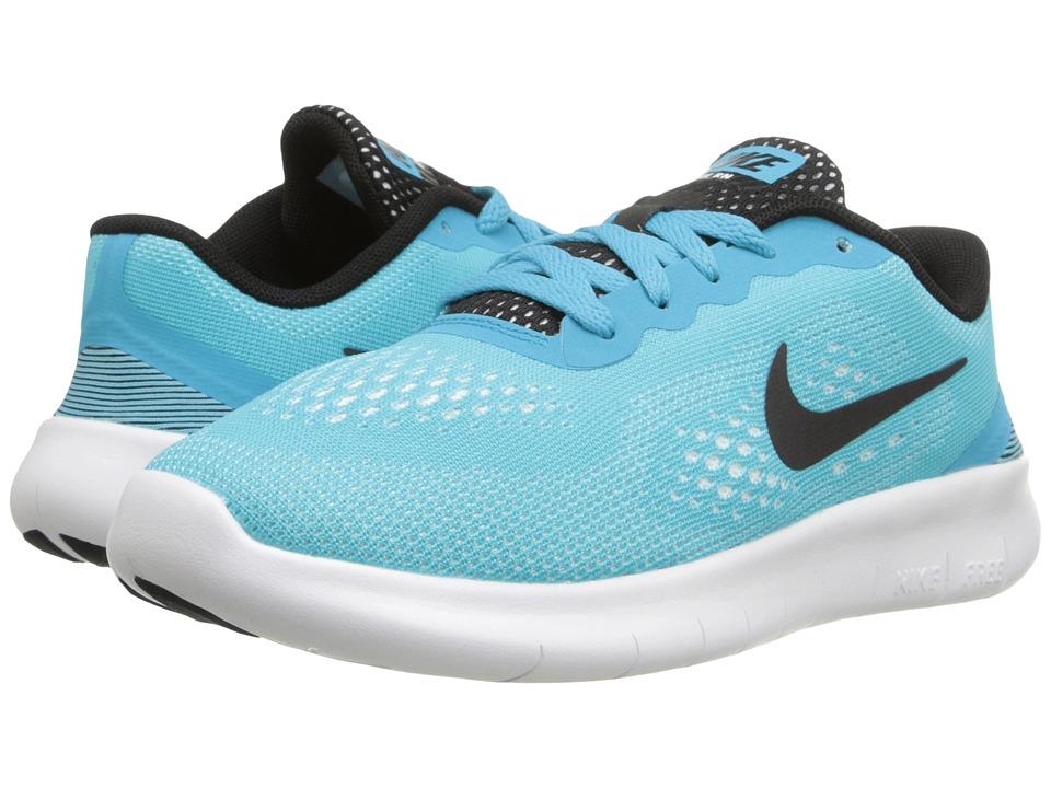 Nike Kids - Free RN (Little Kid) (Gamma Blue/White/Black) Girls Shoes