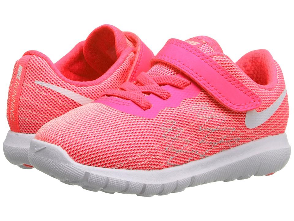 Nike Kids - Flex Fury 2 (Infant/Toddler) (Pink Blast/Wolf Grey/White) Girls Shoes