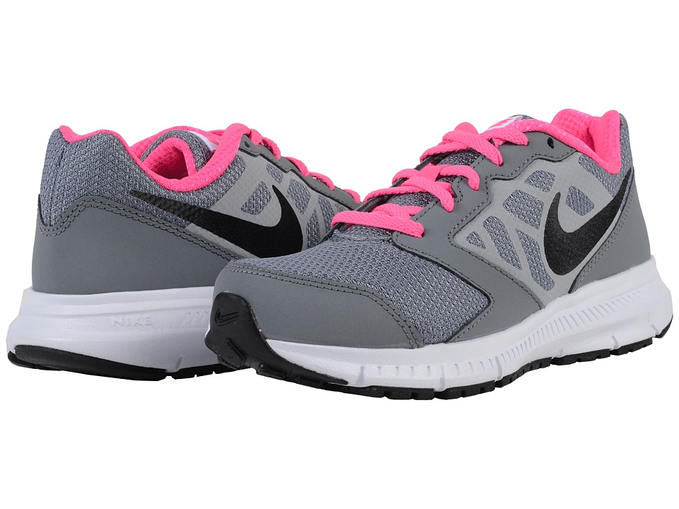 Nike Kids Downshifter 6 Little Kid/Big Kid Cool Grey/White/Pink Blast/Black Girls Shoes