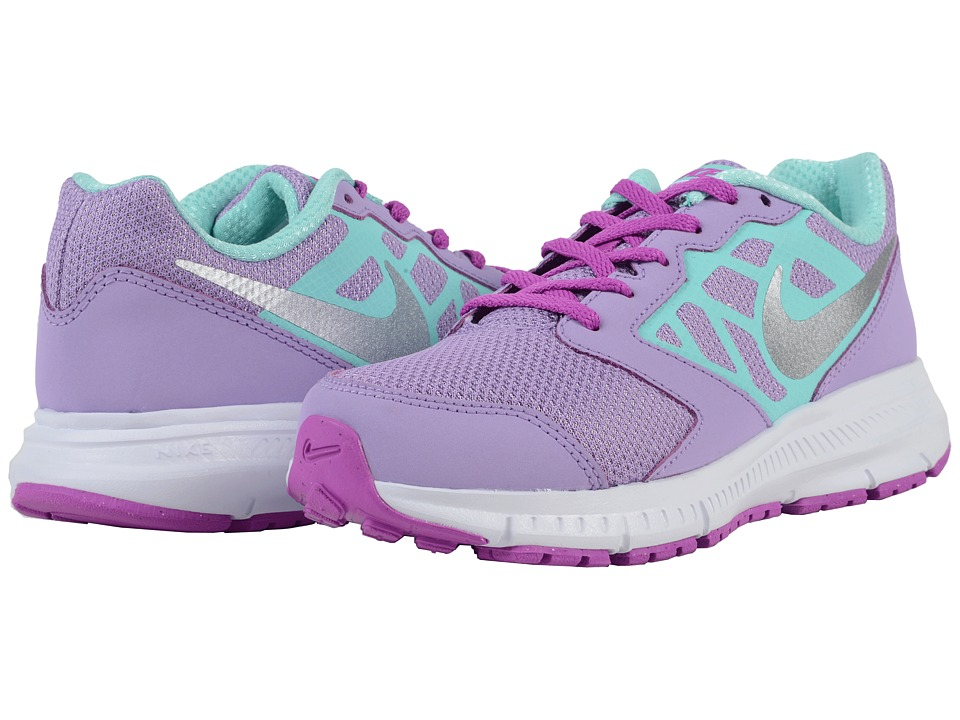Nike Kids Downshifter 6 Little Kid/Big Kid Urban Lilac/Hyper Violet/White/Metallic Silver Girls Shoes