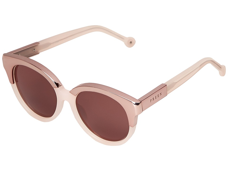 Preen by Thornton Bregazzi Bristol Milky Pink/Brown Mono Fashion Sunglasses