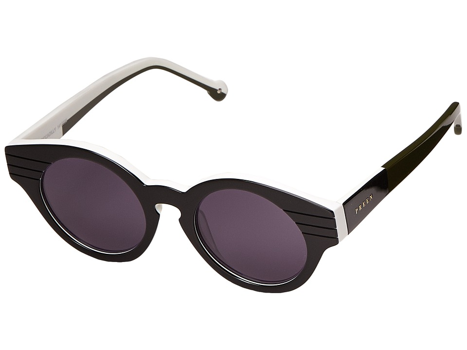Preen by Thornton Bregazzi Piccadilly Black/White/Moss/Smoke Mono Fashion Sunglasses