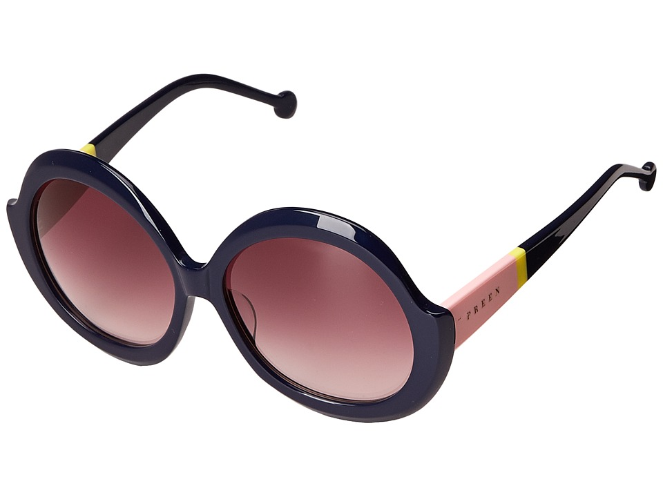 Preen by Thornton Bregazzi Eltham Navy/Rose Grad Fashion Sunglasses