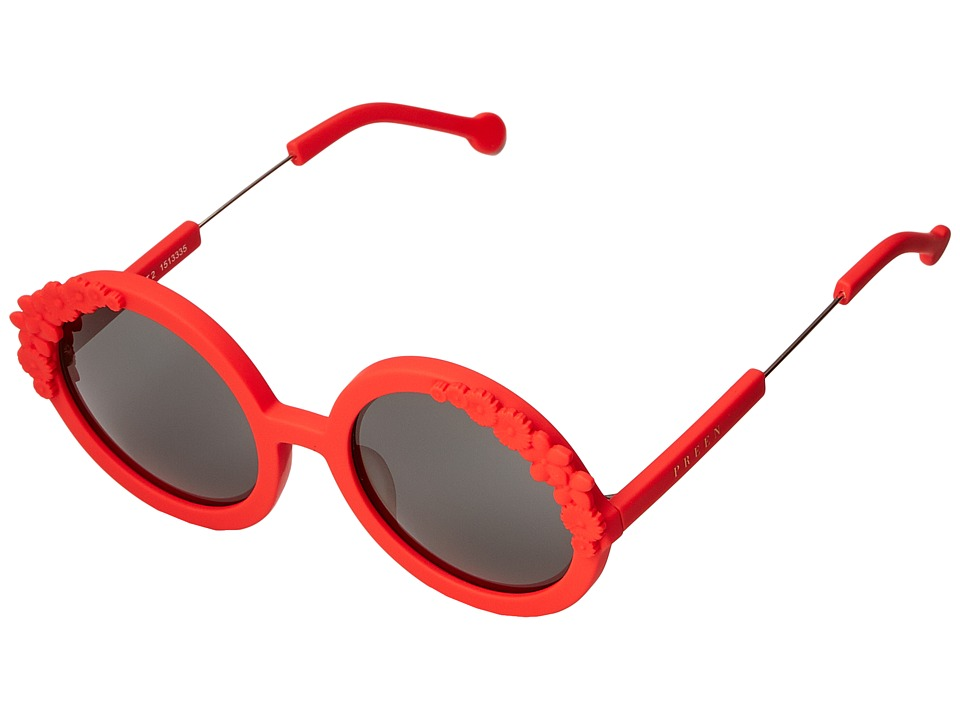 Preen by Thornton Bregazzi Bouquet 2 Red Rubber/Smoke Mono Fashion Sunglasses